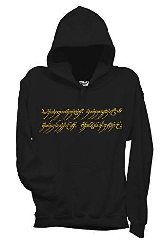 MUSH Sweatshirt Kapuzen Der Herr Der Ringe - Film by Dress Your Style - Damen-M Schwarz