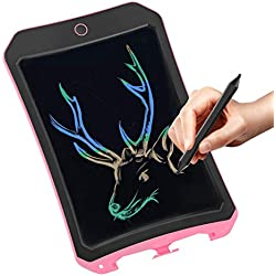 JRD&BS WINL Tablette D'ÉCriture LCD ColorÉE pour Jouets pour Enfants,Filles De 3-12 Ans,Planche De Dessin Et D'ÉCriture De 8.5'' avec Bouton De Verrouillage Convient pour L'ÉCole Et Le Bureau Rose