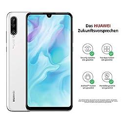 Huawei P30 lite Dual-SIM Smartphone Bundle (6,15 Zoll, 128 GB ROM, 4 GB RAM, Android 9.0) Weiß + SD Karte [Exklusiv bei Amazon] - DE Version