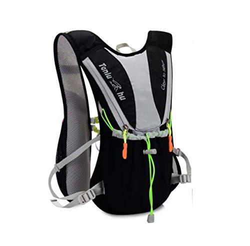 10L Hydration Pack Wasserdichter Cyclng Rucksack Und Rucksack Outdoor Wasser Reservoir Tasche,Orange BlackWithGray