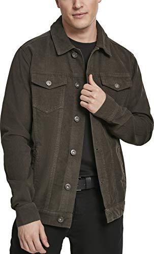 Cord Herren-shirt (Urban Classics Herren Jeansjacke Jacke Corduroy Jacket, Grün (Dark-Olive 00551), X-Large (Herstellergröße: X-Large))