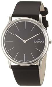 Skagen Herren-Armbanduhr XL Analog Quarz Leder 858XLSLB