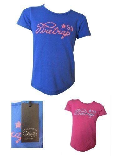 Firetrap Mädchen T-Shirt '93 Motiv 100% Echtes Firetrap Blackseal 3 Jahre - 15 Jahre - 6-7 Jahre,...