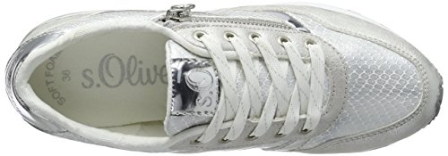 s.Oliver Damen 23655 Sneakers Weiß (WHITE/SILVER 193)