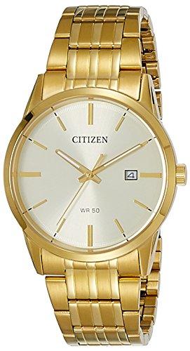 Citizen Herren Analog Quarz Uhr mit Edelstahl Armband BI5002-57P