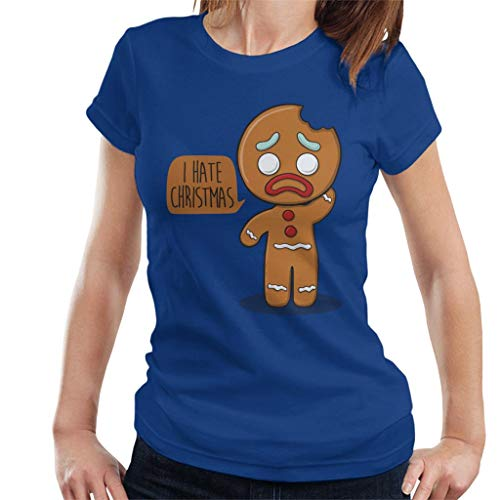 I Hate Christmas Gingerbread Man Women's T-Shirt Shrek Gingerbread