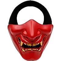 Devil Smile Schlachtfeld Wächter Prajna Maske Airsoft Paintball Halbes Gesicht Schützen Maske für Halloween Party