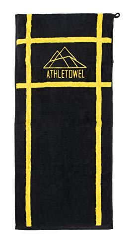 ATHLETOWEL Sporthandtuch | Fitnesshandtuch | Mont.Real Athletetowel | Für Fitness & Bodybuilding | Hochwertige Baumwolle | Reißverschluss (Baumwolle)