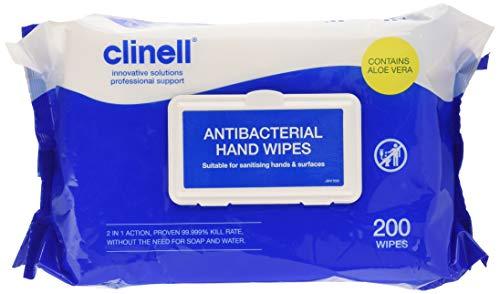 Clinell CAHW200 Antibakterielle Handtücher, 200 Stück