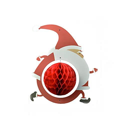 Junjie Frohe Weihnachten Baum Dekoration,Nenu Weihnachtsschmuck Biene Papier Blume Alter Mann Schneemann Puppe Elch Weihnachtsmütze Weihnachtsbaum Mini Table Party Mode Niedlich Papier Ziehen 22-49CM