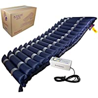 Mobiclinic, Mobi 3, Colchón antiescaras de aire alternante, con motor compresor, para escaras de Grado I, II y III, TPU Nylon, 200 x 80 x 12.8, 17 celdas, color Azul