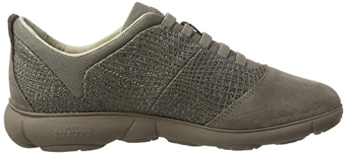 Geox D Nebula A, Sneakers Basses Femme Beige (Taupe)