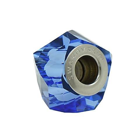 Perle de charme Swarovski - Bleu saphir - Bracelets Pandora - Cadeau idéal pour les femmes et les filles - Livré en boîte cadeau - Gemelli D'argento Collezione