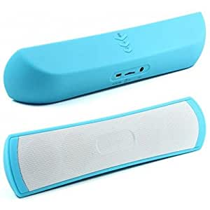 Aurmen Premium BE-13 Bluetooth Stereo Speaker Portable Dock Pill Wireless Supports AUX MicroSD Card Call Answering (Blue) BTBE-35