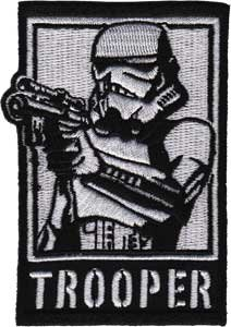 CD, motivo: Star Wars Clone Wars Lucas Film Iron On Patch, Storm Trooper con Imperial Pistola per applicazione