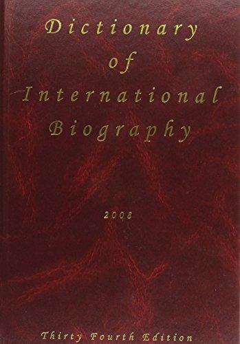 Dictionary of International Biography, 2009 (Ibc 2009)