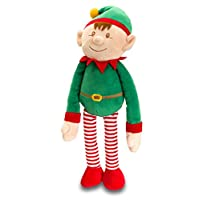 Fancy Classic Collection Christmas ELF with Dangly Legs by Keel Toys - medium ELF - New Arrival