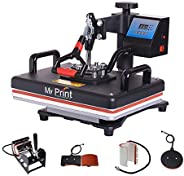 MY PRINT | Heat Press 5 in 1 Digital Multi Functional Sublimation, Vinyl Printing Machine for T-Shirts (Any Fl
