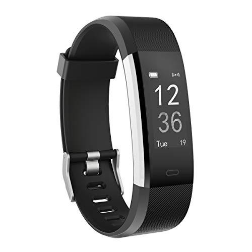Herzfrequenz-Monitor, moreFit Slim HR Plus wasserdicht Fitness Aktivitäts-Tracker tragbares Smart Armband, Schwarz