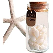 Botellas de leche de cristal de 200 ml con tapón de corcho para guardar recuerdos