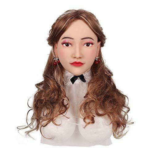 KUMIHO Silikon Maske Realistische Weibliche Masken Halloween Maske Ostern Weihnachtsmasken Cosplay Männlich zu Weiblich für Crossdresser Transgender-Dritte Generation-Alice-3 (Zu Weiblich-make-up Männlich)
