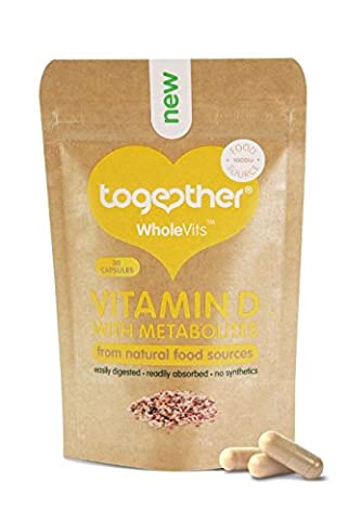 Together Whole Food Complex Vitamin D3 1000iu 30 Capsules With Metabolites, 1er Pack (1 x 20 g)
