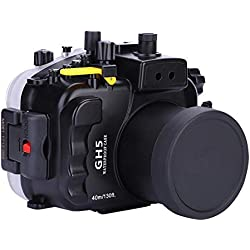 Topiky 40m / 130ft Couvercle de Protection de boîtier étanche à la plongée sous-Marine avec déclencheur Flash pour Appareil Photo Panasonic GH5