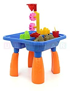 kinder spieltisch sand and water sandkasten tisch sandspielset sand und wasser spieltisch. Black Bedroom Furniture Sets. Home Design Ideas