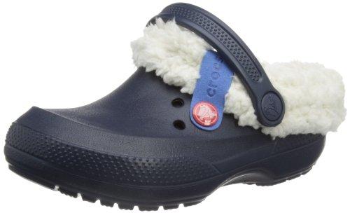 Crocs blitzen ii clog k, sabot unisex – bambini, blu (navy/oatmeal), 24-26 eu