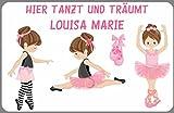 Kilala Türschild Namensschild Ballett Ballarina Kinderzimmer Alternative zu Holzbuchstaben Geschenk Geburtstag