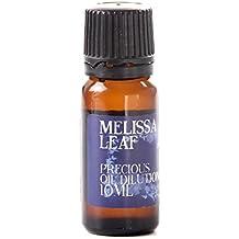 Mystic Moments Melissa Foglia Olio Essenziale Diluzione - 10ml - 3% Jojoba Miscela