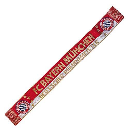 FC Bayern München Rekordmeister Fanschal Schal (one size, rot/weiß)