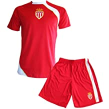 5718c72779652 AS MONACO Maillot + Short Junior ASM - Collection Officielle Football Club  Ligue 1 - Taille