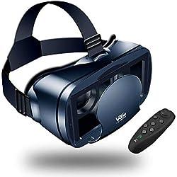 【Nouvelle édition】 LEHONG Casques de Réalité Virtuelle,Casque VR Lunettes 3D VR avec Bluetooth Télécommande avec Compatibilité All Smartphones sous Android 5,0 à 7,0
