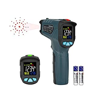 Infrared Thermometer,Hanmer Laser Thermometer,Non-contact Digital Instant Read Temperature Gun for Industrial Thermostat with LCD Backlight (-50℃ - 380 ℃)