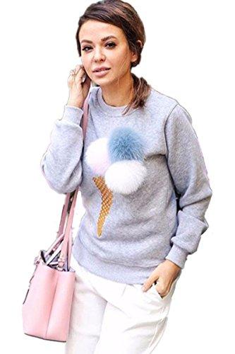 ASCHOEN - Sweat-shirt - Manches Longues - Femme Gris