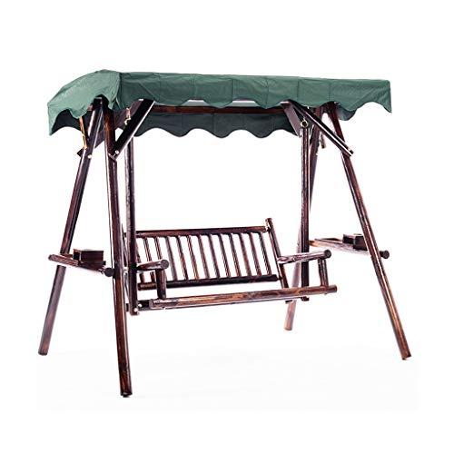 Rocking chair Fauteuil à Bascule Health UK en Bois Massif avec Bascule réglable pour extérieur, Bois Dense, A