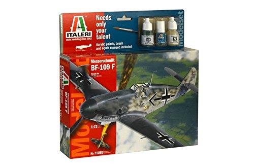 Italeri 71053 - model set: bf-109 f modellismo aerei model kit scala 1:72