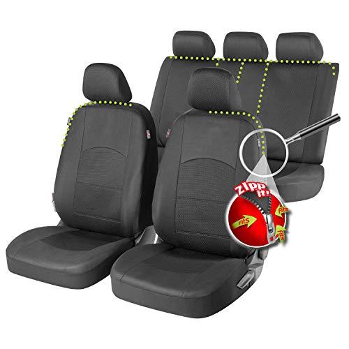 Rmg-Verteiler Sitzbezüge speziell für Focus Version (1998-2004 (I)) passend für Sitze mit Airbag, Laterale Armlehne Rücksitzbank R60S0216 - 1998 Sitzbezug Ford