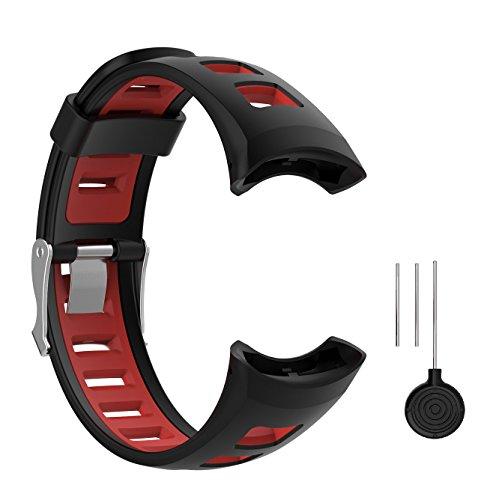 WEINISITE Männer Mode Dual Farbe Silikon Armband für SUUNTO Quest M1 M2 M4 M5 Serie Smart Watch (#2)