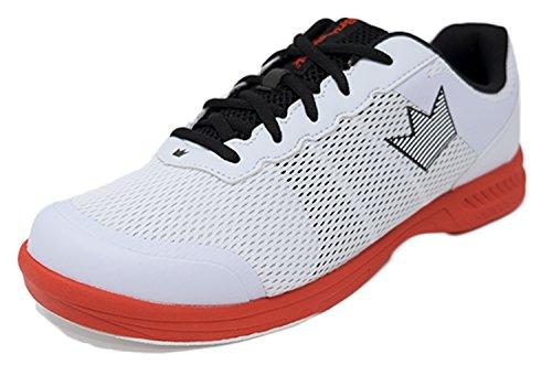 Brunswick Fuze Bowling-Schuhe für Damen und Herren, für Rechts- und Linkshänder Schuhgröße 39-46, in verschiedenen Farben (Weiß-Rot, 41,5) (Schuhe Dexter Bowling)