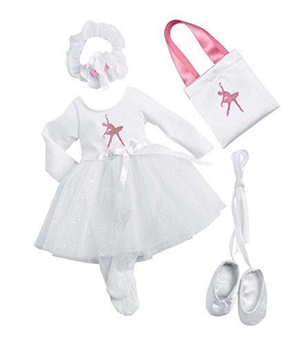 (Zapf Creation 908990 - Nelli dreams Bekleidung Set, Ballerina, weiß)