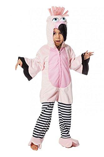 Superweiches Kinderkostüm Flamingo für Mädchen und Jungen Kostüm Overall warm weich, (Flamingo Kostüm Mädchen)