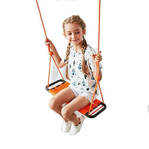 PUDDINGT® Childrens Childs Justierbarer im Freiengarten-Seil-Sicherheits-Sicherer Schwingensitz, Kinder, die Schwingen-Seil-Hochleistungsschwingen-Kind-hängenden Schwingen-Stuhl,Orange