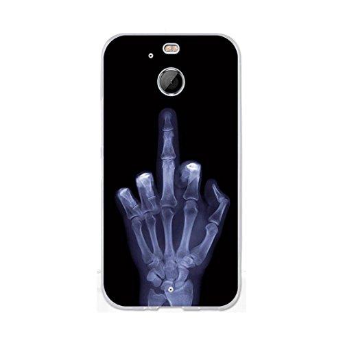 HTC Bolt Hülle, HTC 10 Evo Hülle, Gift_Source [ Mittelfinger ] Ultra Dünn schützt Hülle Flexiblen Silikon Schutz Hülle TPU Etui Bumper Handyhülle Cover Anti-Kratzer Schutzhülle Tasche für HTC Bolt/10 Evo