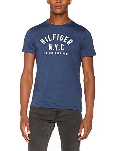 Tommy Hilfiger Herren T-Shirt Wcc Chase C-Nk Tee S/S Rf Blau (Sargasso Sea 452)