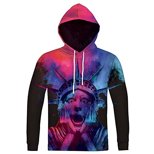 XYL HOME Hoodie,Unisex realistische 3D überrascht Göttin Mode Pullover Hoodie Kapuzen Sweater, XL -