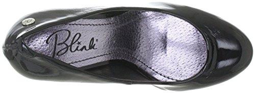 Blink 701200 k01 plateaupumps white flame high heel (noir) Noir - black white flame