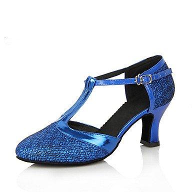 Scarpe da ballo-Personalizzabile-Da donna-Moderno-Tacco su misura-Brillantini-Nero / Blu / Marrone / Viola / Grigio / Dorato / Fucsia Purple