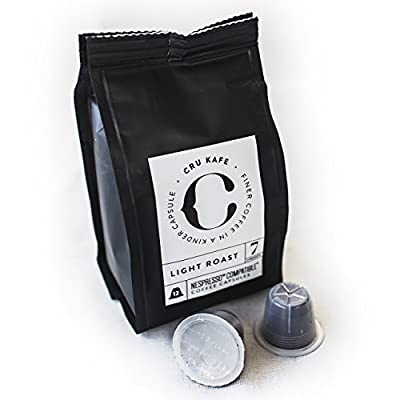 CRU Kafe Organic Coffee Capsules Nespresso Compatible Fairtrade - Light Roast from CRU Kafe